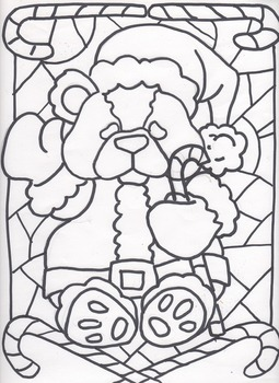 Christmas Stained Glass for Elementary classes