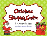 Christmas Stamping Fun Word Work Centre