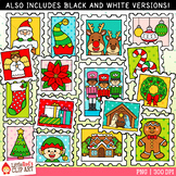 Christmas Stamps Christmas Clip Art