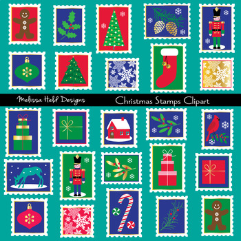 Christmas Stamps Clipart