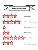Christmas Star Counting and Adding