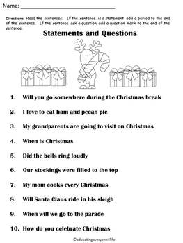 Christmas:  Statements or Questions