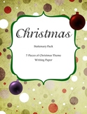 Christmas Stationary Pack - Seven Pieces of Christmas Theme Stationary