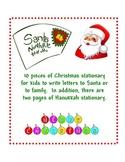 Christmas Stationary and Hanukkah Stationary