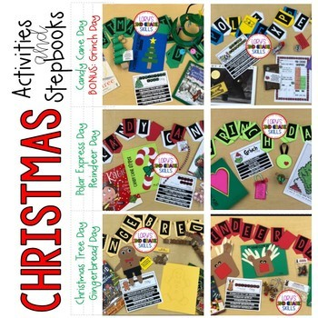 6 Christmas Themes of Activities & Step Books