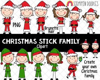 Christmas Stick Family