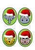 Christmas Stick Puppets (animals)  -  Freebie