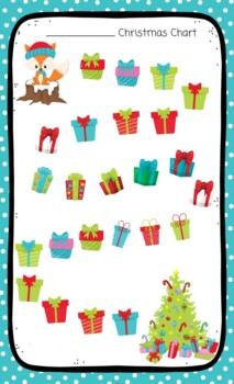 Christmas Sticker Chart Fox