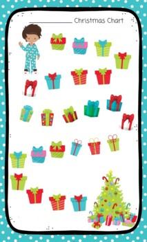Christmas Sticker Chart Little Boy