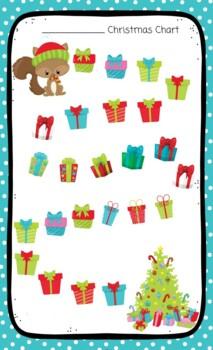 Christmas Sticker Chart Squirrel