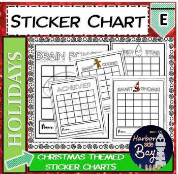 Christmas Sticker Charts