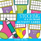 Christmas Stocking 10 & 20 Frames Math Center Activities