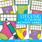 Christmas Stocking 10 & 20 Frames Math Center Activities