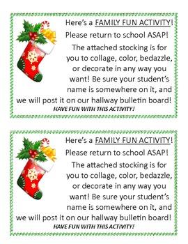 Christmas Stocking Art Activity (For Homework!)