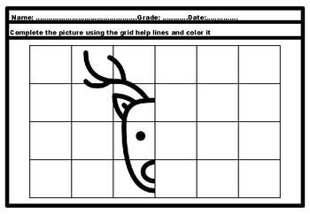 Christmas Stocking, Bulletin Board Set Letters & Symmetry Art Printables Bundle