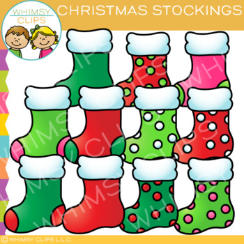Stockings for Christmas Clip Art