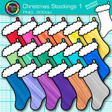 Christmas Stocking Clip Art {Rainbow Holiday Decorations for Scrapbooking} 1