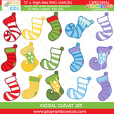 Christmas Stocking Clipart Pack