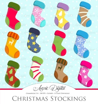 Christmas Stocking Clipart - Vector