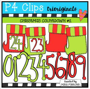 Christmas Stocking Countdown {P4 Clips Trioriginals Digital Clip Art}