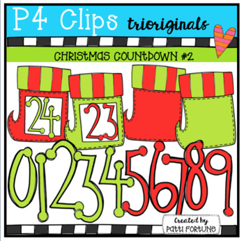 Christmas Stocking Countdown {P4 Clips Trioriginals Digita