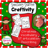 Christmas Stocking Craftivity Freebie: Vocabulary, Describ