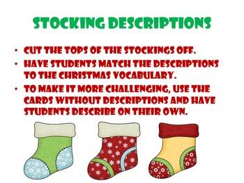Christmas Stocking Descriptions