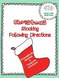 Christmas Stocking Following Directions (Prepositional, Cardinal, Temporal)