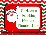 Christmas Stocking Fraction Number Line Craftivity