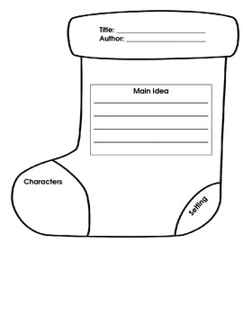 Christmas Stocking Graphic Organizer for Story Grammar