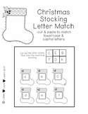 Christmas Stocking Letter Match (cut & paste)