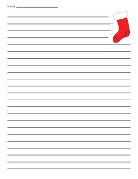 Christmas Stocking Lined Paper