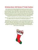 Christmas Stocking Math Fractions Review Game