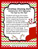 Christmas Stocking Math Multiplication With Regrouping Two Digit By One Digit