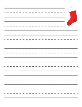 Christmas Stocking Primary Lined Paper