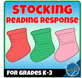 Stocking Shaped Reading Response Sheets for Any Book