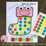 Christmas Stocking Speech Therapy Sticker Dice Game craft