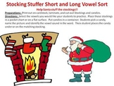 Christmas Stocking Stuffer Short and Long Vowel Sound Sort