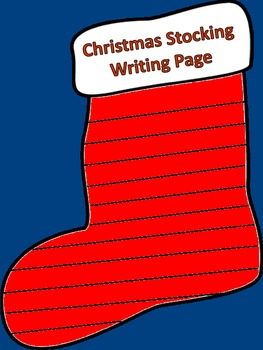 Christmas Stocking Writing Page