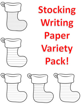 Christmas Stocking Writing Paper Stocking Writing Templates Stocking Paper Lined