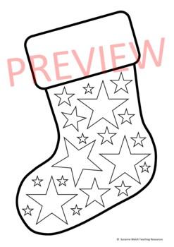 Black And White Christmas Stockings.Christmas Stocking Black And White Templates 15 Designs