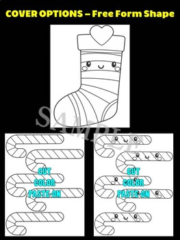 Christmas Stocking with Candy Canes- Moonju Makers for Activity, Craft, Writing