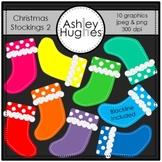Christmas Stockings 2 Clipart {A Hughes Design}