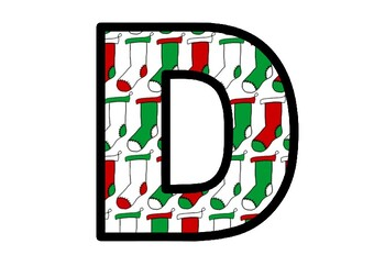 Christmas Stockings, Bulletin Board Letters, Classroom Decor