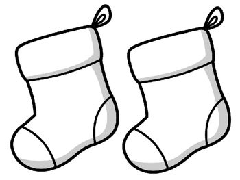 Christmas Stockings Bulletin Board Set. The Stockings were hung by the chimney