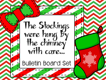 Christmas Stockings Bulletin Board Set. The Stockings were