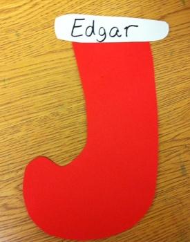 Christmas Stockings (Bulletin Board idea!)EASY AND FREEBIE! :)