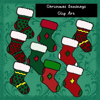 Christmas Stockings Clip Art FREEBIE
