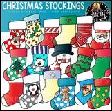 Christmas Stockings Clip Art Set {Educlips Clipart}
