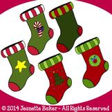 Christmas Stockings Clip Art by Jeanette Baker